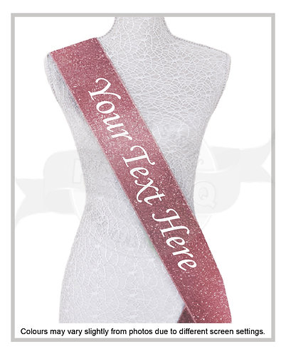 """Your Text Here""FULL GLITTER SASH"