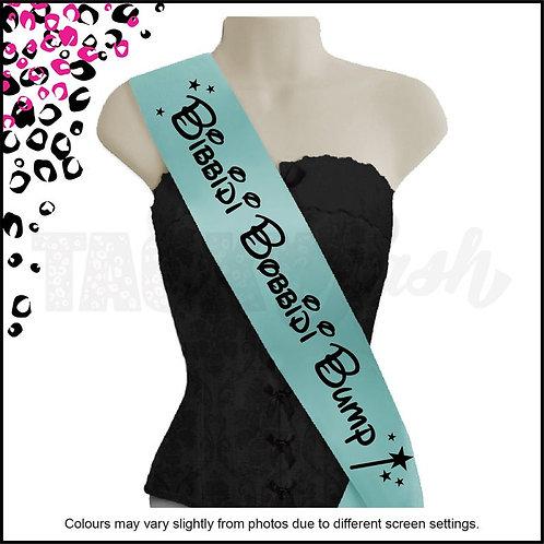 Bibbidi Bobbidi Bump Disney inspired  Printed maternity baby shower sash