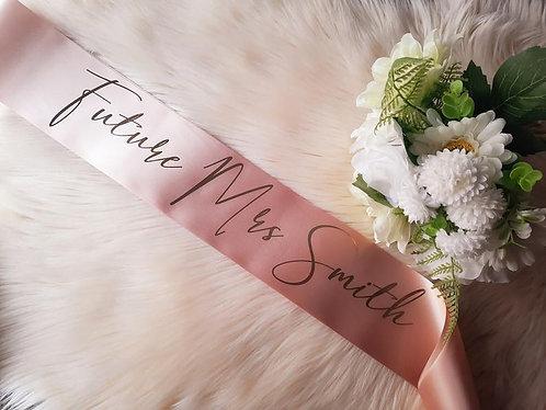 Style 25 Hens & Bridal Shower Printed Sash