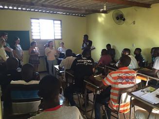 Aula de Direito do Trabalho para haitianos