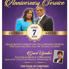 Happy Anniversary, Pastor & Evangelist Brown