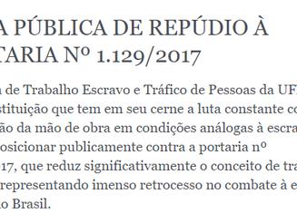 NOTA PÚBLICA DE REPÚDIO À PORTARIA Nº 1.129/2017