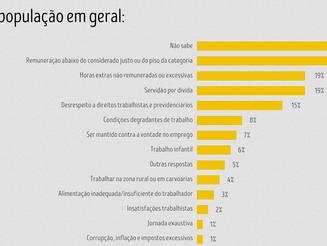 Pesquisa revela que a maioria dos brasileiros desconhece o conceito de trabalho escravo contemporâne