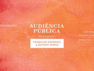 Audiência Pública para debater o PLs 432/13