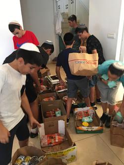 השתתפות ילדים בסלי מזון