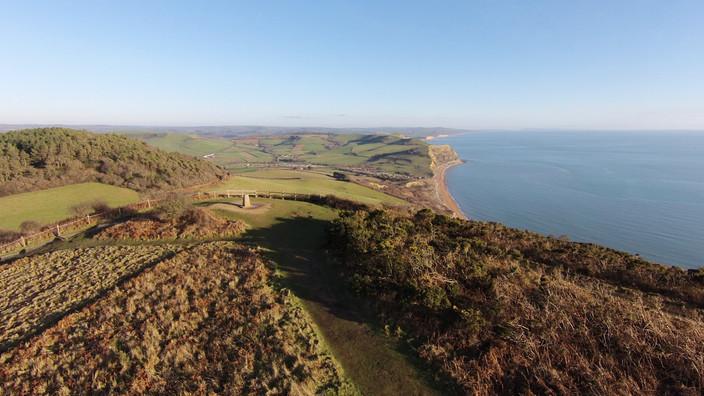 Golden Cap looking East towards West Bay