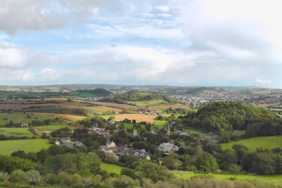 View from Colmer's Hill over Symondsbury, Dorset