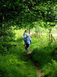 Children walking in East Devo