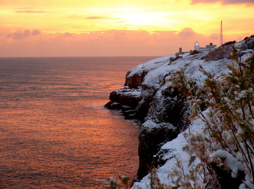 Lighthouse at sunset – Durlston Country Park