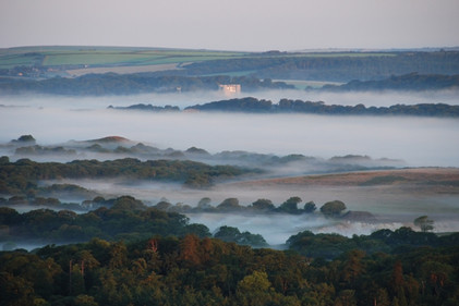 Purbeck Lulworth Castle at Sunrise