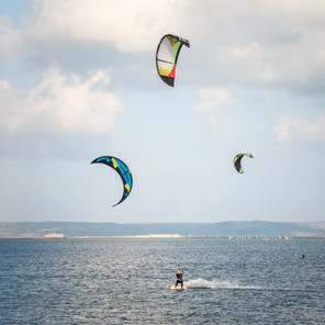 Kite Surfing Portland Harbour