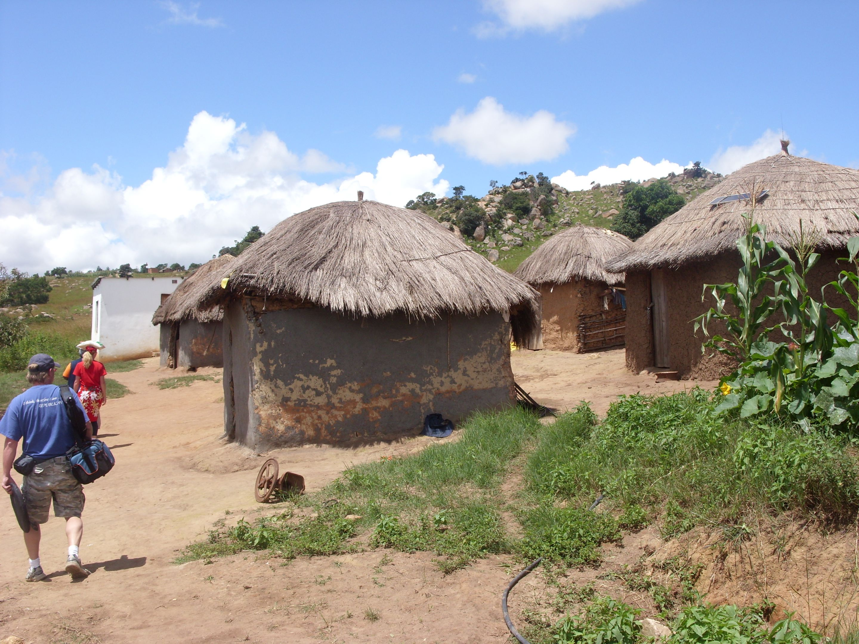 Typical home made of mud and sticks