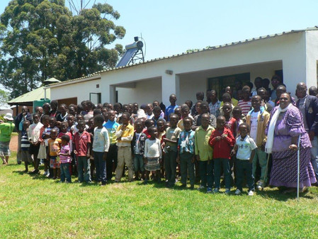 100 children came to the child outreach Christmas celebration