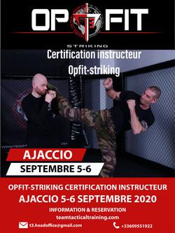 Evenement de certification d'instructeur OPFIT