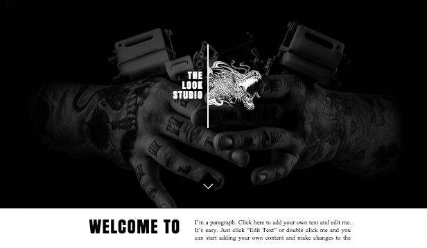 Visual Arts website templates – Tattoo Designs