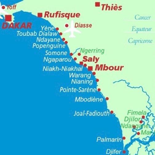Plan de la Petite Côte du Sénégal