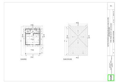 Type studio_ vues en plan et toiture cop