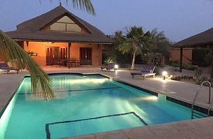 A vendre villa 10 couchages avec piscine et titre foncier en résidence bord de mer à Nianing
