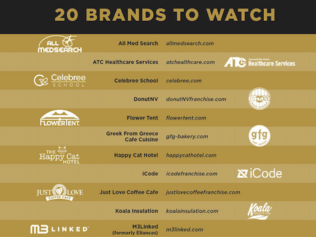 DonutNV named 1 of 20 Brands to Watch in Franchise Dictionary Magazine's 2020 Game Changers Edition