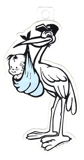 Stork - blue