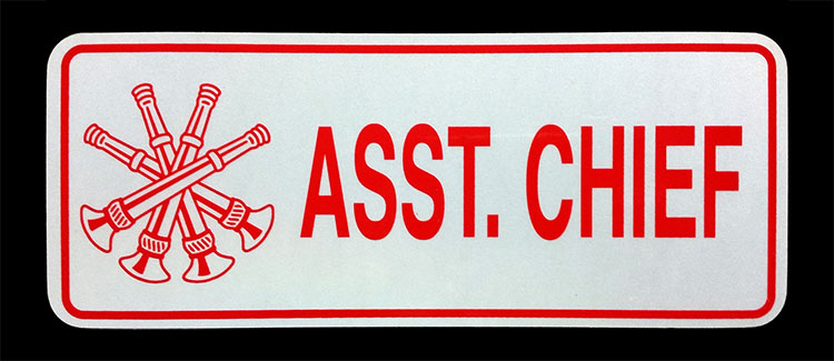 Asst. Chief Reflective License Plate
