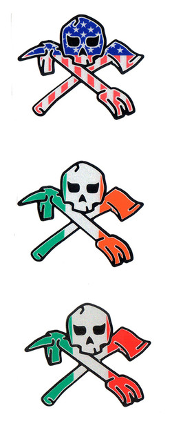 Skull With Axe and Halligan