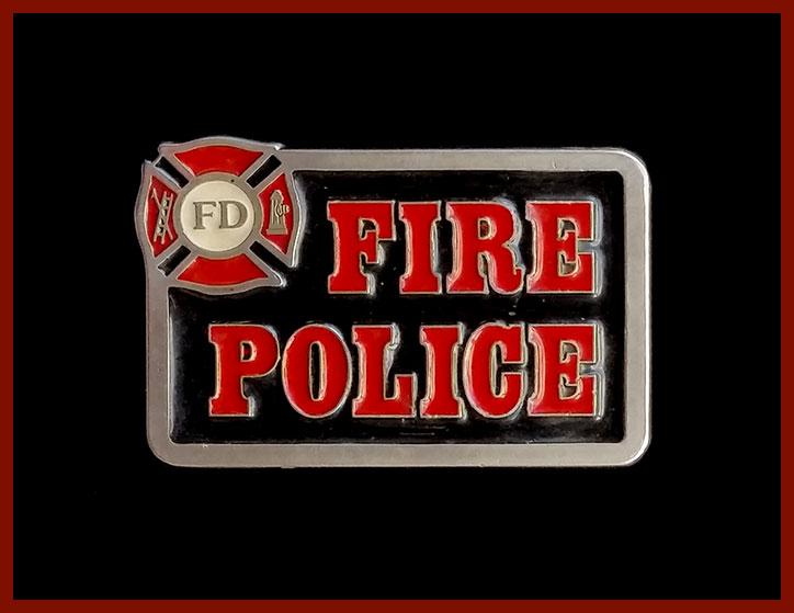 Fire Police Belt Buckle