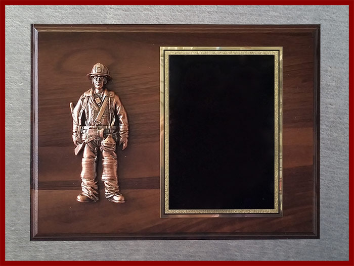 Resin Firefighter Plaque