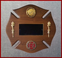 """""""Firefighter of the Year"""" Plaque"""