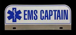 EMS Captain Reflective License Plate