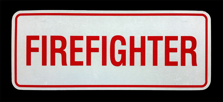 Firefighter Reflective License Plate