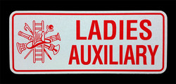 Ladie Aux. Reflective License Plate