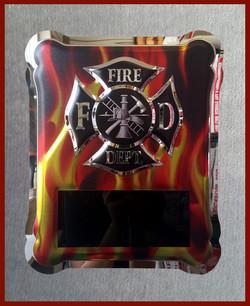 FD Chrome Flame Plaque