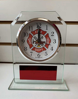 Fire Dept. Acrylic Clock