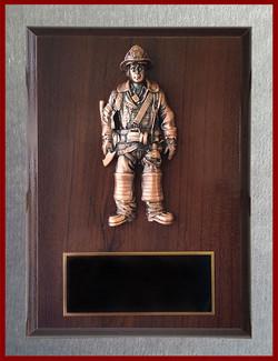 Resin Firefighter Plaque