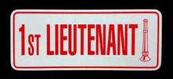 Lieutenant Reflective License Plate