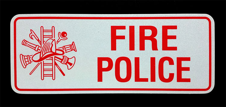 Fire Police Reflective License Plate
