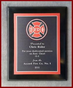 Black FD Recognition Plaque