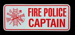Fire Police Captain Reflective Licen
