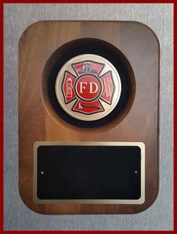 Fire Department Medallion Plaque