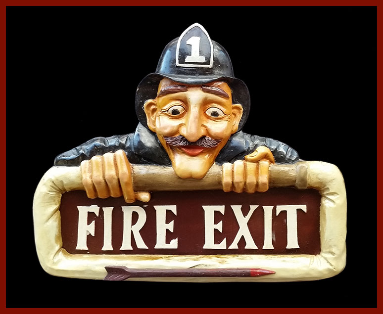 """Resin """"Fire Exit"""" Sign"""