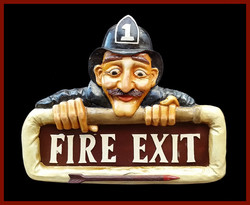 "Resin ""Fire Exit"" Sign"