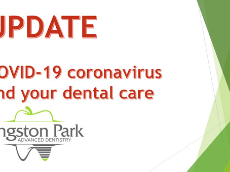 COVID-19 and your dental care.