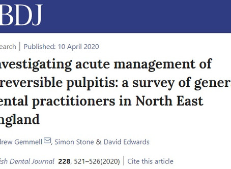 Pulpitis Management in North East England