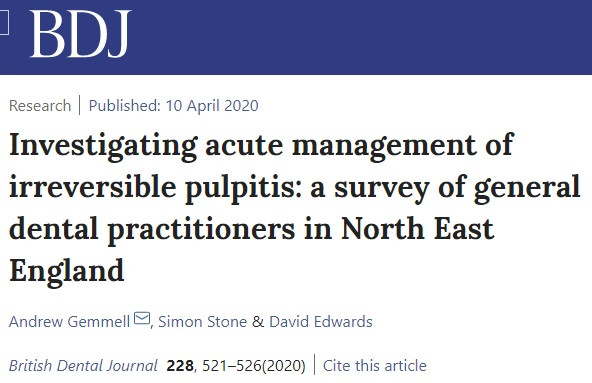 research in the management of pulptis