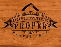 Doylestown-Proper-Barber-Shop-Logo-Wood-Embossed