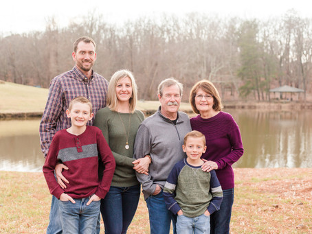 Winter Family Session at Country Park in Greensboro, NC! ❤️