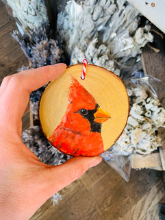 Cardinal Ornament by Andrea Holmes