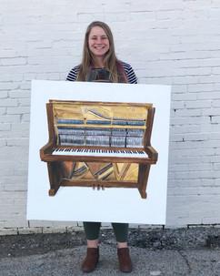 Vintage Piano by Andrea Holmes