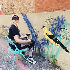 Andrea Holmes Johnson Street Mural MckIn